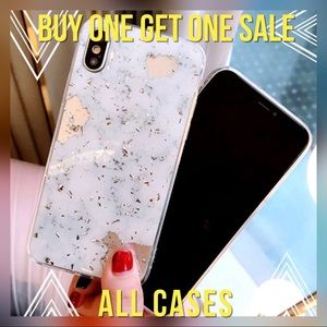 Accessories - NEW iPhone 7+/8+/7/8 White Marble Foil Soft Case